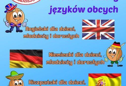 Zapraszamy do zapisów na naukę języków obcych