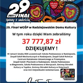 Ostateczna kwota zebrana w ramach 29 finału WOŚP