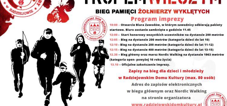 Program na IX edycje biegu Tropem Wilczym w Radziejowie