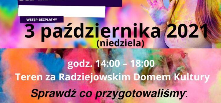 """""""Święto Kolorów Holi"""" w Radziejowie"""